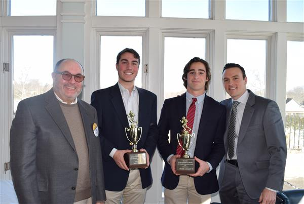 Rye Rotary Presents Sportsmanship Award to RHS Athletes Peter Chabot and Brett Egan
