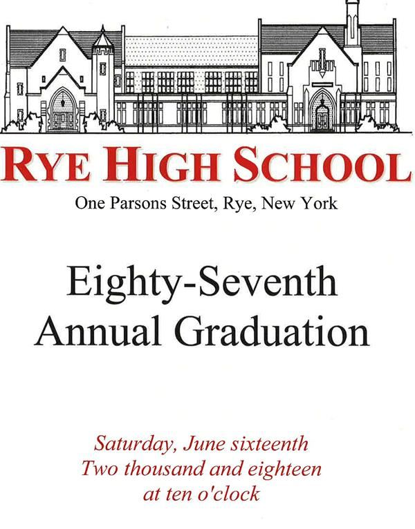 RHS Graduation Program cover 2018