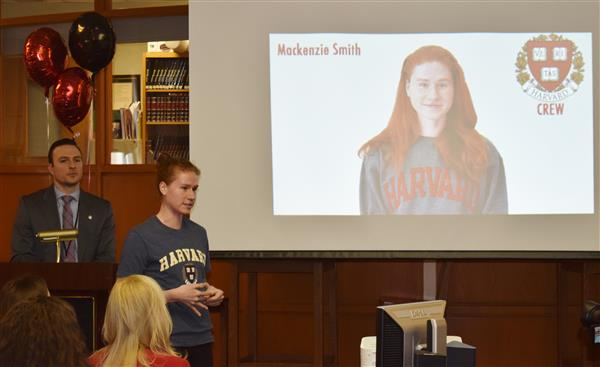 Mackenzie Smith talks about rowing at Harvard next year