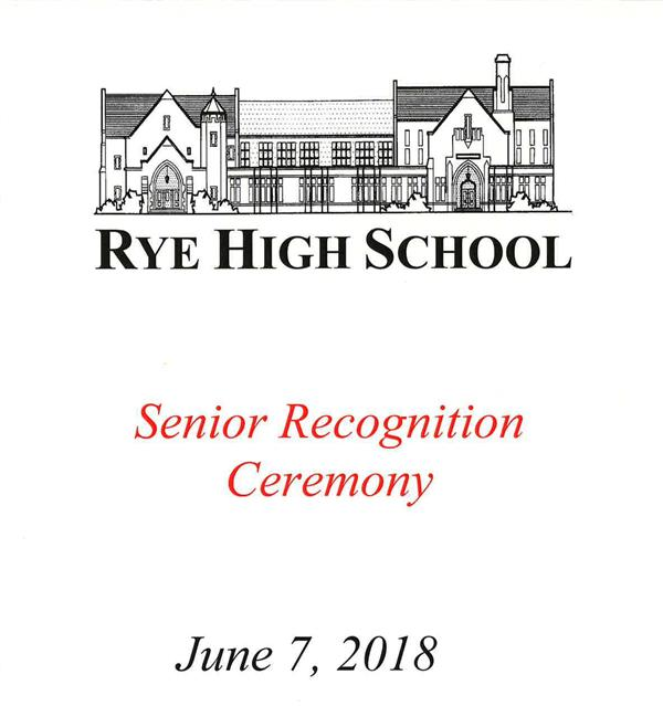 RHS Class of 2018 Senior Recognition Ceremony Program